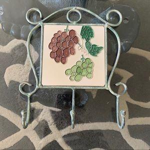 Hanging Wall Tile w/Metal Surround & Hooks